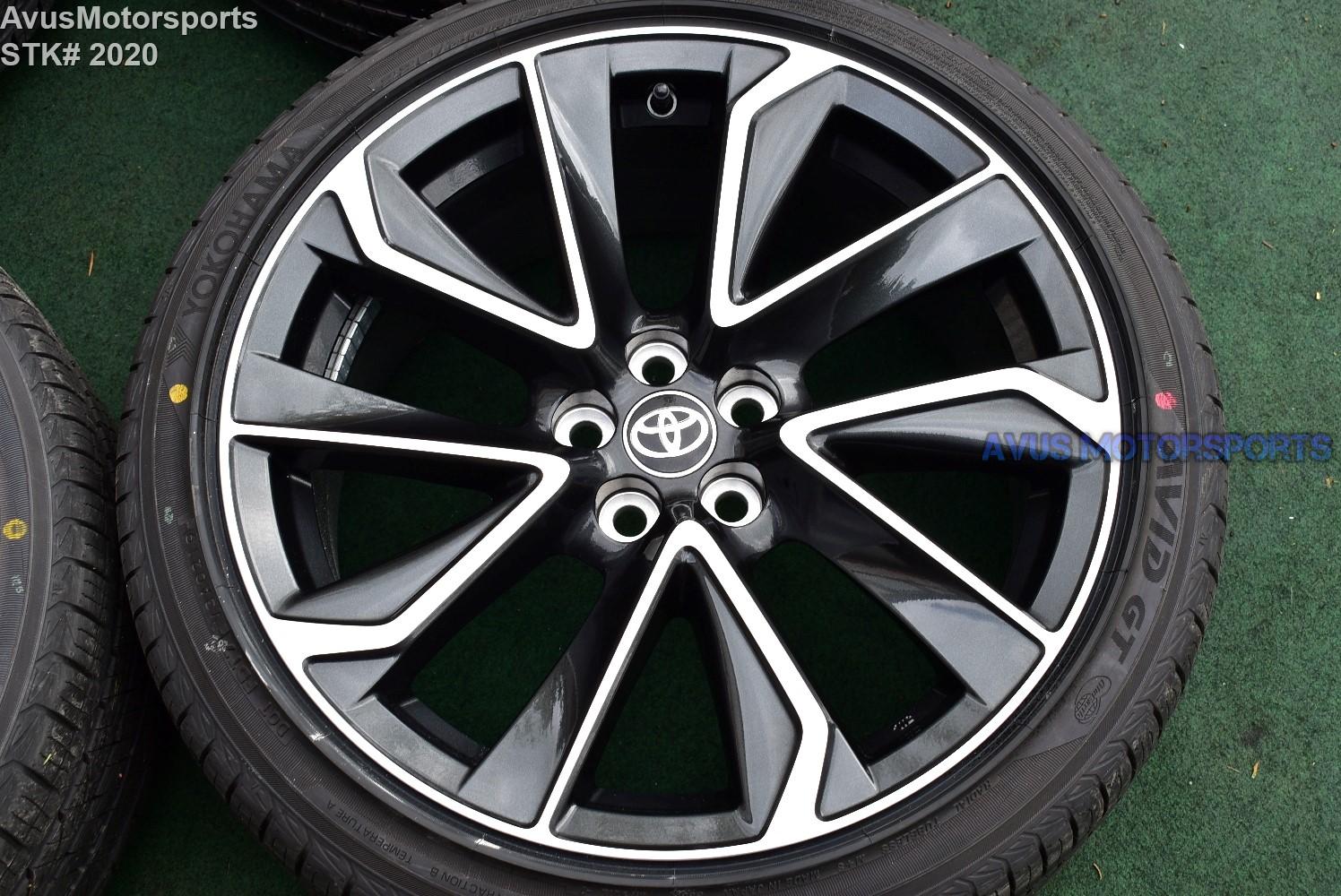 18 Quot Toyota Corolla Xse Factory Oem Wheels Yokohama 225 40r18 Prius 2019 5x100