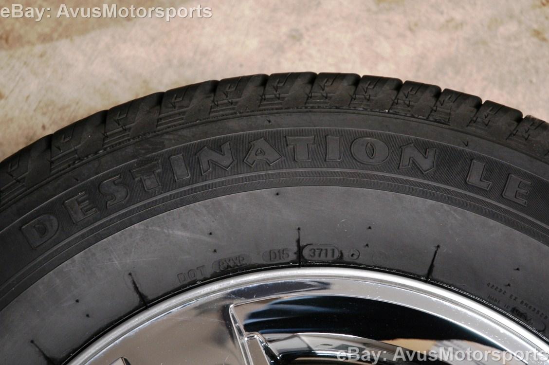 "Chevy Silverado GMC Yukon 18"" Chrome Wheels Tire 1500 Tahoe Sierra Suburban"