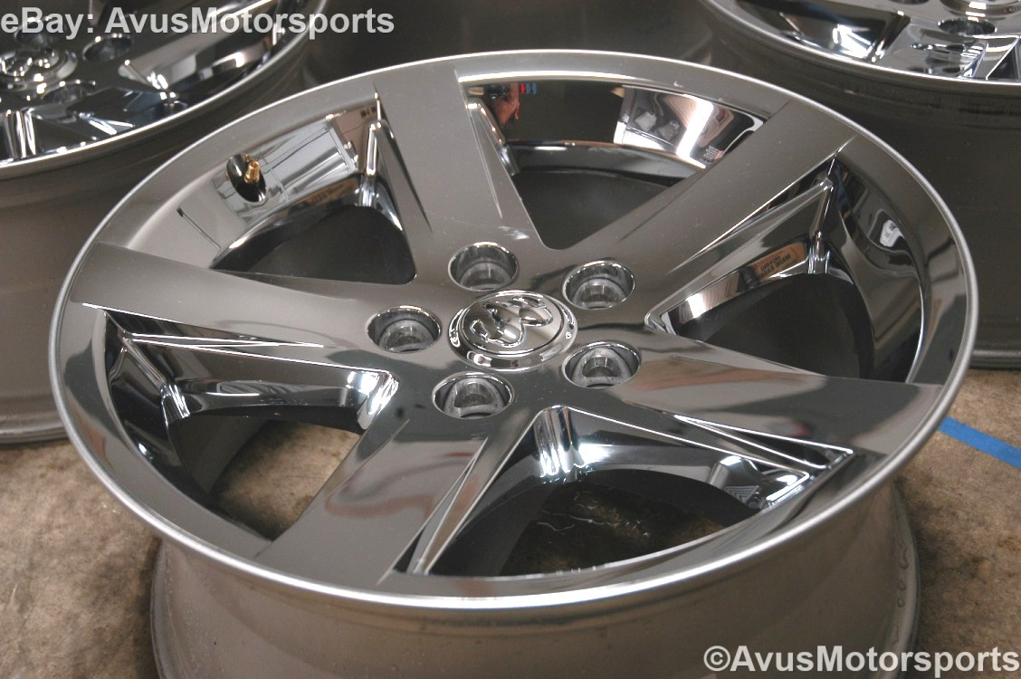"Dodge RAM Factory 20"" Chrome Clad Wheels Hemi 1500 Durango Dakota Aspen"