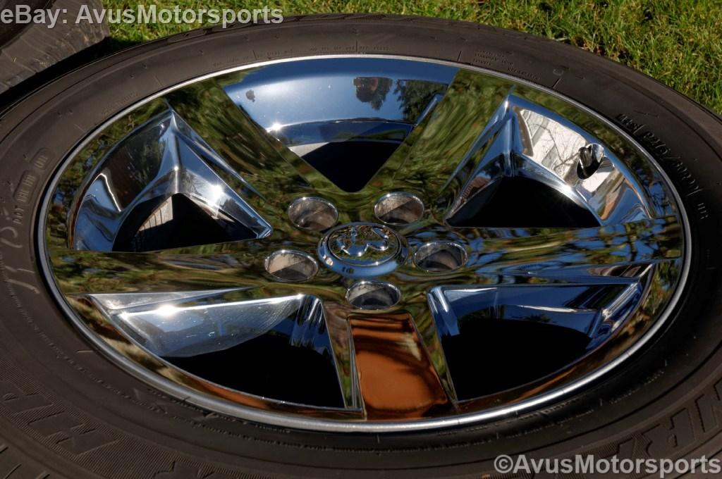 """Dodge RAM Factory 20"""" Chrome Clad Wheels Tires Hemi 1500 Durango Dakota"""