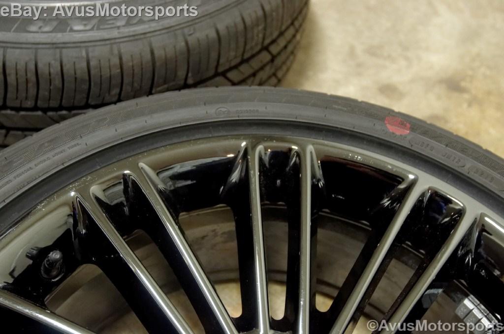"2014 Ford Fusion 18"" Factory Wheels Tires Black Chrome 2013 Focus Taurus"