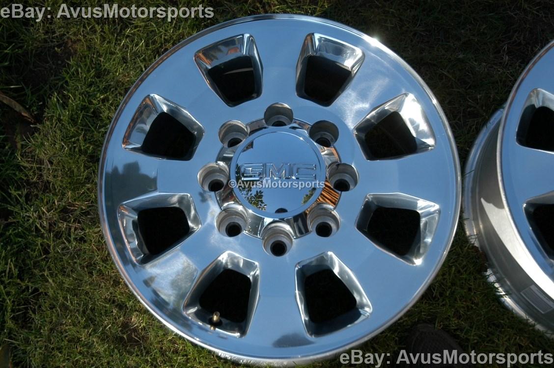 """2012 GMC SIERRA18"""" Polished Wheels Chevy Silverado 2500 3500 Factory"""